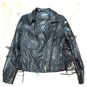 BlankNYC Fringe Faux leather Jacket